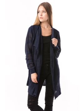 Cardigan Dama Cu Ajur SchoolCollection Bleumarin