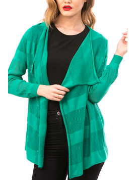 Cardigan Dama Cu Ajur NewSchoolCollection Verde-2