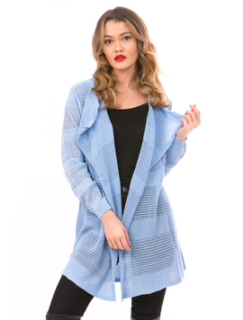 Cardigan Dama Cu Ajur NewSchoolCollection Bleumarin