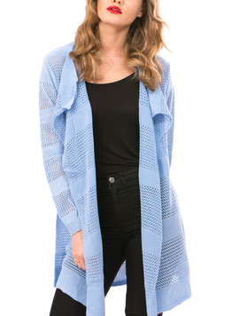 Cardigan Dama Cu Ajur NewSchoolCollection Bleumarin-2