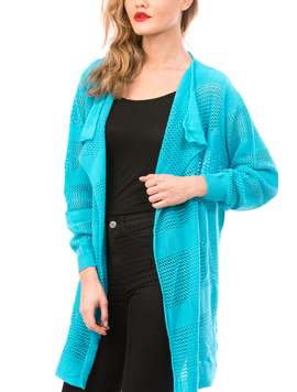Cardigan Dama Cu Ajur LongSchoolCollection Bleo Electric-2