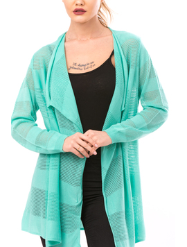 Cardigan Dama Cu Ajur LongSchoolCollection Menta-2