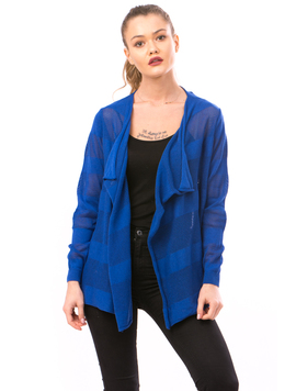 Cardigan Dama Cu Ajur NewSchoolCollection Albastru Electric