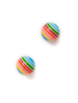 Cercei Small Candy Sphere Light Blue Rainbow