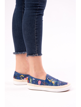 Espadrile Dama Cu Imprimeu Floral One Another Bleumarin-2
