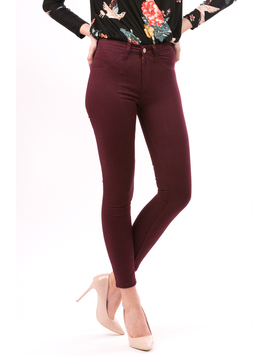 Pantalon Dama AllColor Bordo