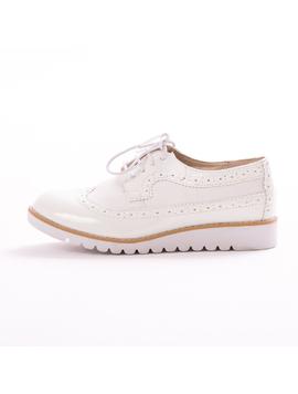 Pantofi Dama OxfordSchool Alb