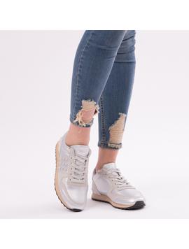 Pantofi Sport Casual UpForRunning Argintiu-2
