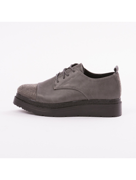 Pantofi Dama Cu Platforma SparkleMeNow Gri