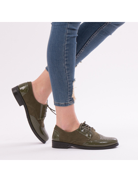 Pantofi Dama VarnishedGirl Kaki-2