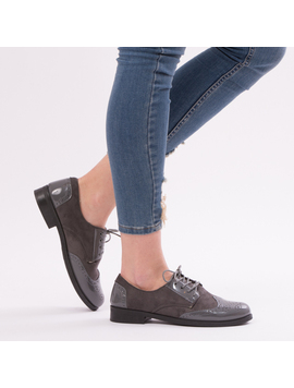 Pantofi Dama VarnishedGirl Gri-2
