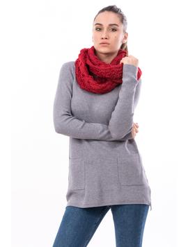 Fular Dama Tricotat BigEye Rosu