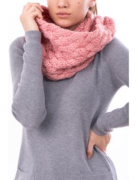 Fular Dama Tricotat BigEye Roz-2