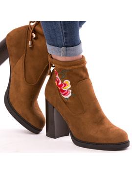 Ghete Dama FlowerColor Camel-2