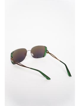 Ochelari De Soare Dama Impression Albastru Si Argintiu-2