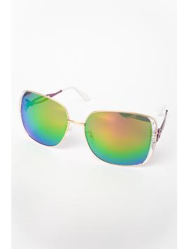 Ochelari De Soare Dama Impression Verde Si Argintiu