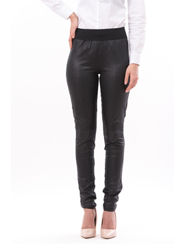 Pantalon Dama Matlasat Stil Colant WarmLether Negru