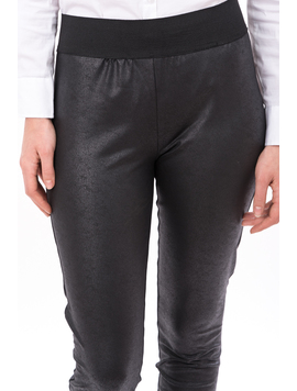 Pantalon Dama Matlasat Stil Colant WarmLether Negru-2