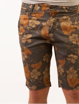 Pantaloni Scurti Barbatesti Leaf Style Gri Petrol -2