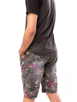 Pantaloni Barbati Scurti Cu Imprimeu Floral Kaky-2