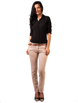 Pantaloni Dama Office Look Bej Deschis