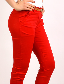 Pantaloni Dama Office Pocket Pants Rosii-2