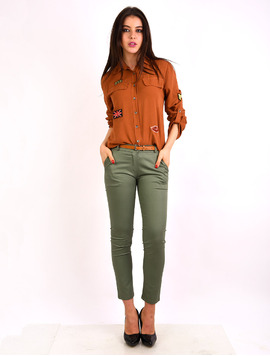 Pantaloni Dama Office Pocket Pants Kaki