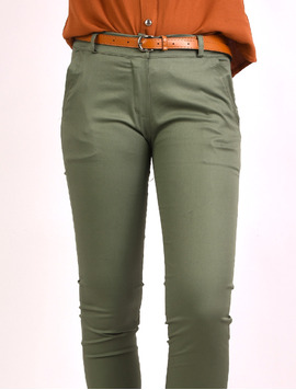 Pantaloni Dama Office Pocket Pants Kaki-2
