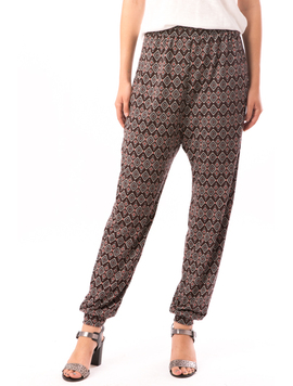 Pantaloni Dama In Carouri Din Tricot HyppyStyle Grena