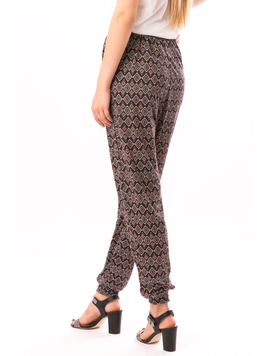 Pantaloni Dama In Carouri Din Tricot HyppyStyle Grena-2