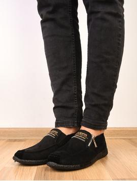 Pantofi Barbati Sport Cu fermoar Decorativ Poison Negri
