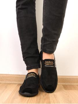 Pantofi Barbati Sport Cu fermoar Decorativ Poison Negri-2