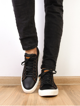 Pantofi Barbati Sport Cu Siret Denim New Negri-2