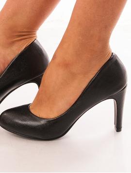 Pantofi Dama Cu Toc Accent Negri-2