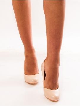Pantofi Dama Cu Toc Accent Bej-2