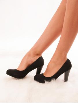 Pantofi Dama Cu Toc Si Platforma Stubborn Negri-2