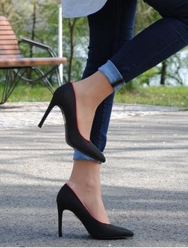 Pantofi Dama Spring Fringe Black