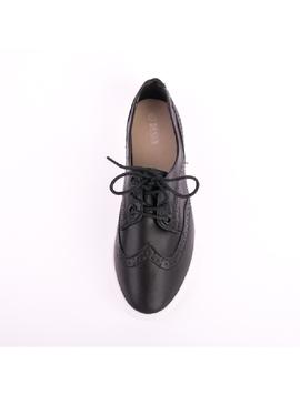 Pantofi Dama Oxford Negru-2