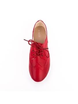 Pantofi Dama Oxford Rosu-2