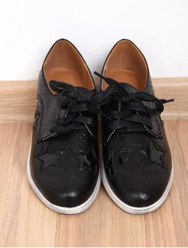Pantofi Dama Casual Textured Negri-2