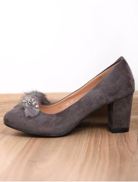 Pantofi Dama Cu Toc Mediu Opinion Gri-2
