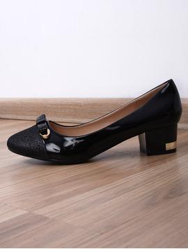 Pantofi Dama Casual Cu Toc Mic Special Negri-2