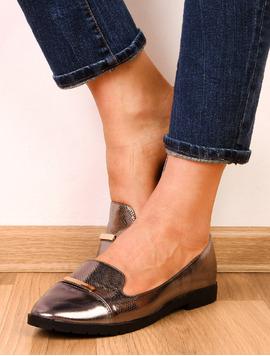 Pantofi Dama Casual Cu Aplicatie Metalica Yourself Argintii-2