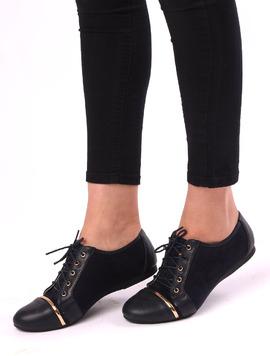 Pantofi Dama Casual Cu Siret Target Bleumarin