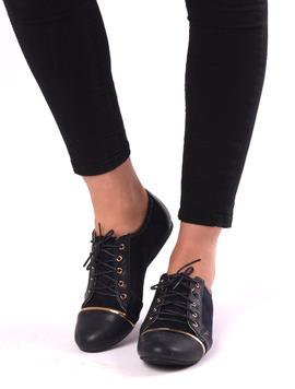Pantofi Dama Casual Cu Siret Target Bleumarin-2