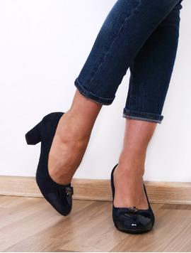 Pantofi Dama Cu Toc Si Varf Lacuit Hope Bleumarin-2