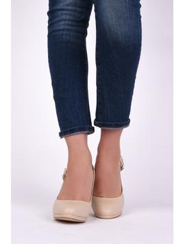 Pantofi Dama Casual Cu Toc Beauty Bej-2