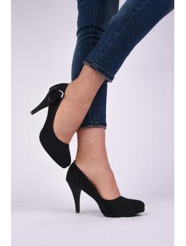 Pantofi Dama Casual Cu Toc Beauty Negri