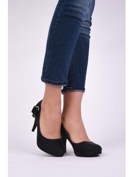 Pantofi Dama Casual Cu Toc Beauty Negri-2