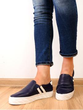 Pantofi Dama Sport Cu Elastic Actress Bleumarin-2